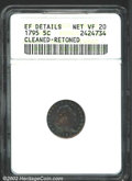 Early Half Dimes: , 1795 H10C--Cleaned, Retoned--ANACS. XF Details, Net VF20. ...