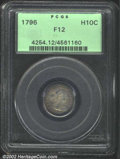 Early Half Dimes: , 1796 H10C Fine 12 PCGS. V-1, LM-1, R.3. The obverse ...