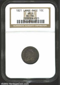 Bust Dimes: , 1821 10C Large Date AU58 NGC. JR-4, R.2. Although JR-4 is ...