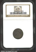 Bust Dimes: , 1827 10C AU55 NGC. JR-13, R.3. Originally preserved with ...