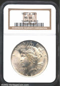 Peace Dollars: , 1927-D $1 MS66 NGC. The 1927-D boasts the highest ...