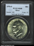 Eisenhower Dollars: , 1976-S $1 Silver MS68 PCGS. Type One Reverse. A ...