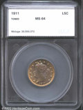 Additional Certified Coins: , 1911 5C Nickel MS64 SEGS. An attractive near-Gem, both ...