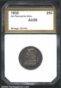 Additional Certified Coins: , 1832 25C Quarter AU58 PCI. B-1, R.1. One of only two ...
