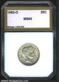 Additional Certified Coins: , 1892-O 25C Quarter MS65 PCI (MS63). Sharply struck with ...