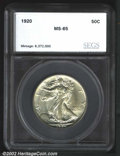 Additional Certified Coins: , 1920 50C Half Dollar MS65 SEGS (MS63). Brilliant with ...