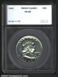 Additional Certified Coins: , 1950 50C Half PR65 Cameo SEGS (PR64). Brilliant with a ...