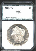 Additional Certified Coins: , 1885-O $1 Silver Dollar MS63 Prooflike PCI (MS63 Prooflike)...