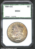 Additional Certified Coins: , 1891-CC $1 Silver Dollar MS63 PCI (MS63). VAM-3. Top 100 ...