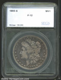Additional Certified Coins: , 1893-S $1 Silver Dollar Fine 12 SEGS (VG8 Rim Damage). ...