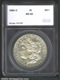 Additional Certified Coins: , 1895-O $1 Silver Dollar MS60 Prooflike PCI (MS60 Cleaned, ...