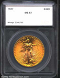 Additional Certified Coins: , 1927 $20 Double Eagle MS67 SEGS. Uncommonly abrasion-free ...