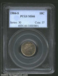 Barber Dimes: , 1904-S 10C MS66 PCGS. The '04-S is one of 14 issues in ...