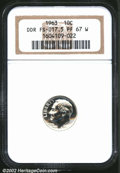 Proof Roosevelt Dimes: , 1963 10C PR67 W NGC. FS-17.5. AMERICA and ONE DIME are ...