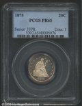 Proof Twenty Cent Pieces: , 1875 20C PR65 PCGS. The heavily frosted central devices ...