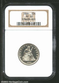 Proof Seated Quarters: , 1860 25C PR65 NGC. This coin mates a Type Two obverse hub ...