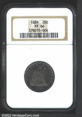 Proof Seated Quarters: , 1889 25C PR66 NGC. With only 12,000 business strikes ...
