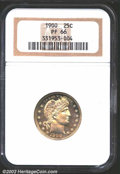 Proof Barber Quarters: , 1900 25C PR66 NGC. The obverse of this nearly flawless ...