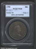 Early Half Dollars: , 1795 50C VF20 PCGS. O-102, R.5. Rich maroon and lilac ...