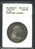 Early Half Dollars: , 1795 50C--Scratched, Cleaned--ANACS. XF Details, Net VF25....