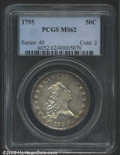 Early Half Dollars: , 1795 50C MS62 PCGS. O-131, R.4. Bright and satiny with a ...
