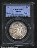 Bust Half Dollars: , 1811 50C Large 8 MS64 PCGS. O-103, R.4. A scarce variety, ...