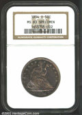 Seated Half Dollars: , 1854-O 50C Arrows MS63 Specimen NGC. To our knowledge ...