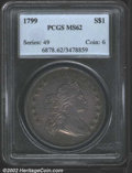 "Early Dollars: , 1799 $1 MS62 PCGS. B-15, BB-152. One of the two ""..."