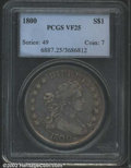 Early Dollars: , 1800 $1 VF25 PCGS. B-19, BB-192, R.2. The borders have ...