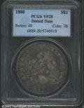 Early Dollars: , 1800 $1 Dotted Date VF20 PCGS. B-14, BB-194, R.2. The ...