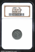 Patterns: , 1853 One Cent, Judd-151, Pollock-178, R.5, PR63 NGC. ...