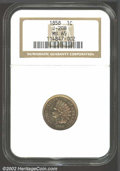 1858 P1C Indian Cent, Judd-208, Pollock-253, 254, 261, R.7, MS65 NGC. Indian Cent pattern with the adopted design of 185...