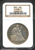 Proof Seated Dollars: , 1845 $1 PR64 NGC. Only 15-25 proof Seated Dollars from ...