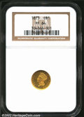 Proof Gold Dollars: , 1873 $1 Closed 3 PR64 NGC. The 1873 Closed 3 is one of ...