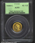 Classic Quarter Eagles: , 1838-C $2 1/2 AU55 PCGS. The 1838-C has a small mintage ...