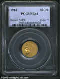 Proof Indian Quarter Eagles: , 1914 $2 1/2 PR64 PCGS. The 1914 is generally considered ...
