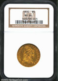 Early Half Eagles: , 1800 $5 MS64 NGC. B. 1-D, Miller-44, R.2. Very well ...