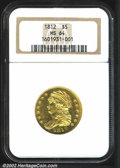 Early Half Eagles: , 1812 $5 MS64 NGC. B. 1-B, Miller-118, R.3. A lovely near-...