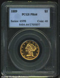 Proof Liberty Half Eagles: , 1889 $5 PR64 PCGS. Half Eagle production at the ...