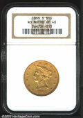 Liberty Eagles: , 1866-S $10 No Motto XF40 NGC. A challenging transitional ...
