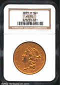 1859-O $20 AU50 NGC. The 1859-O is a widely recognized rarity among Liberty Double Eagles. Only 9,100 pieces were struck...