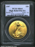 High Relief Double Eagles: , 1907 $20 High Relief, Flat Rim MS64 PCGS. We have never ...
