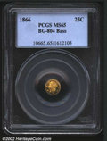 California Fractional Gold: , 1866 25C Liberty Round 25 Cents, BG-804, R.6, MS65 PCGS. Ex:...