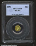 California Fractional Gold: , 1871 50C Liberty Octagonal 50 Cents, BG-924, R.4, AU58 PCGS....