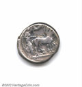 Ancients:Greek, Sicily, Gela. Circa 480-470 B.C. AR tetradrachm. ...