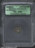 Ancients:Roman, Anonymous Issue. 211-210 B.C. AR quinarius minted in ...