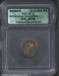 Ancients:Roman, Anonymous Issue. 209-208 B.C. AR denarius minted at Rome. ...