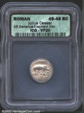 Ancients:Roman, Julius Caesar, d. 44 B.C. AR denarius struck at a mint ...