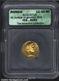 Ancients:Roman, Augustus, 27 B.C.-A.D. 14. AV aureus minted at Lugdunum, ...