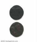 Ancients:Roman, Augustus, 27 B.C.-A.D. 14. AE as minted at Nemausus. Heads ...